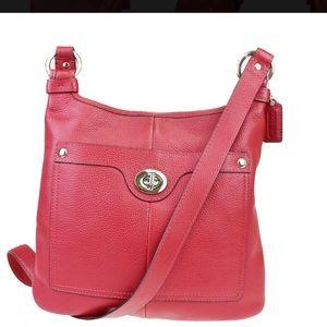 Coach  F16533 Red  Penelope Hippie Crossbody Bag